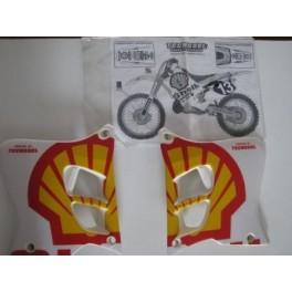 Adesivi Trofeo Shell Yamaha YZ 125, 250 - 1993, 1994, 1995 convogliatori