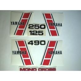 Adesivi Yamaha YZ 125, 250, 490 - 1983 non originali