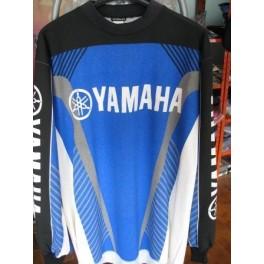 maglia cross Yamaha blu taglia S cotone