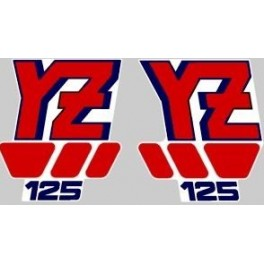 Adesivi Yamaha YZ 125 1988 kit grafiche non originali