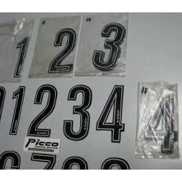 Numeri adesivi per portanumeri e fiancatine M ROBERT 4,5X10