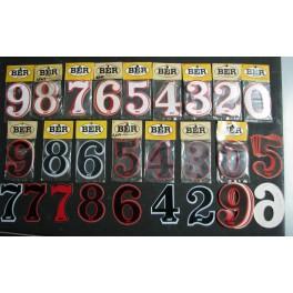 Numeri adesivi per portanumeri e fiancatine BER 6,5X9