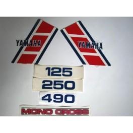 Adesivi Yamaha YZ 125, 250, 490  - 1984 non originali