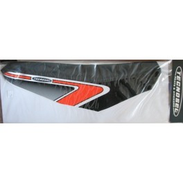 copertina sella Tecnosel Yamaha YZ 125-250 2002-2017 cobra nero-rosso